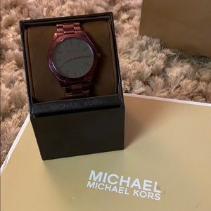 "Michael Kors ""Slim Runway"" Plum Tone Watch"